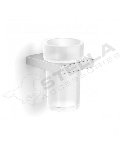 Стакан Stella скляний з тримачем серія New York (05.411)
