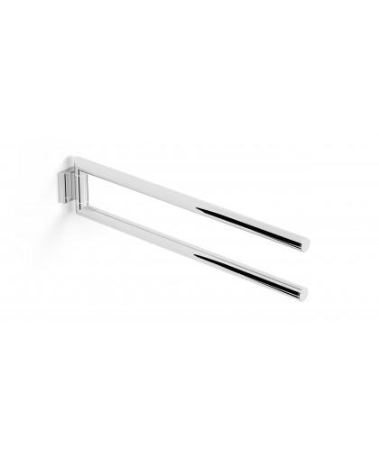 Вішак для рушників подвійний рухомий / хром (06.152)