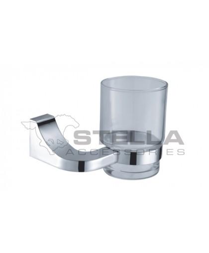 Стакан Stella скляний | з тримачем | серія SQUARE (04.411)